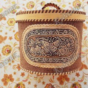 Берестяной короб Бабочка