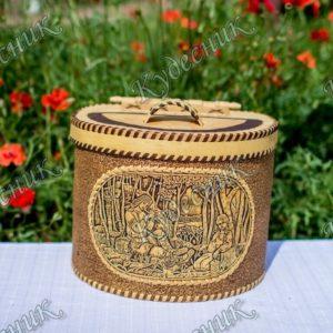 Берестяной короб Пастушья дудочка