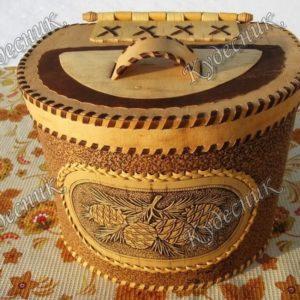 Берестяной короб Шишки
