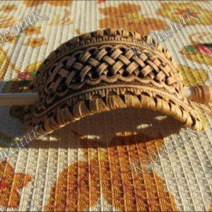 Плетеная заколка из бересты