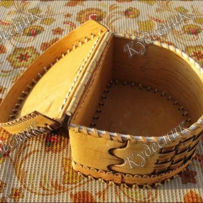 Плетеная шкатулка на шарнире (2)