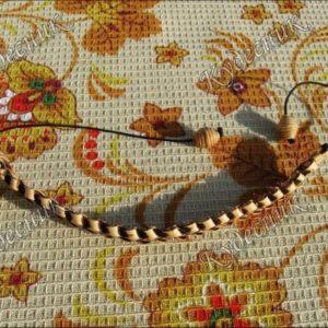 Плетеный браслет из бересты