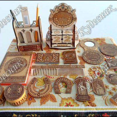 Сувениры из бересты с названием городов