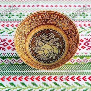 Тарелка круглая Грибочки
