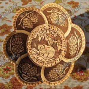 Тарелка 6 лепестков Сибирь