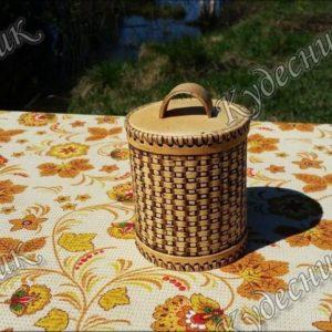 Туес Д10 мелкого плетения