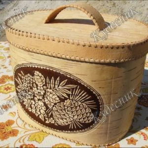 Хлебница большая овальная Лесные дары