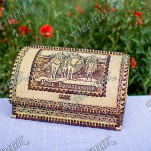 Хлебница из бересты Русь Богатырская