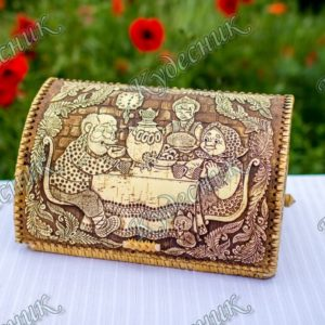 Хлебница из бересты Сказка у самовара