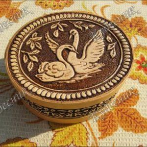 Шкатулка из бересты Лебёдушки