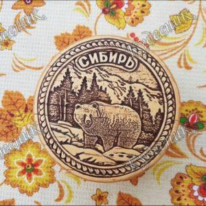 Шкатулка круглая Сибирь