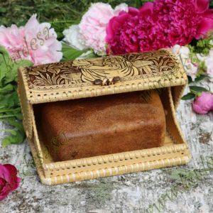Берестяная хлебница на 1 булку Варвара-краса