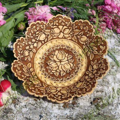 Тарелка Розочки (10 лепестков)