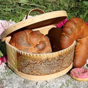 Хлебница на шарнире Фея темная