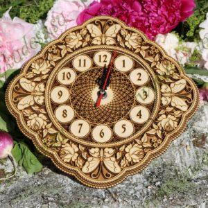 Часы Лето ромб 28×28 см.