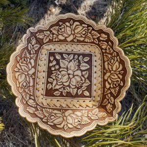 Тарелка квадратная Букет роз