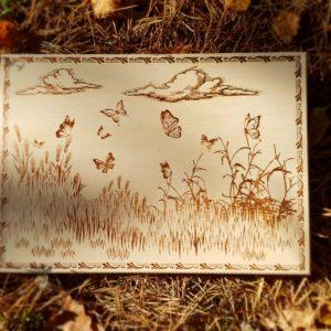 Доска разделочная Бабочки