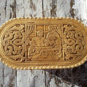 Хлебница Авторская овальная высокая N 2