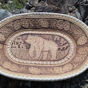 Тарелка овальная Медведь