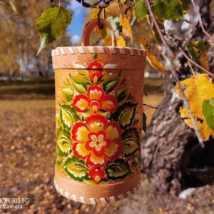 Туес Осенние цветы